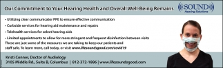 Our Commitment To Your Hearing Health And Overall Well Being Remains