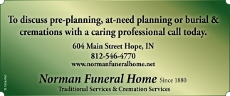 Traditional Services & Cremation Services