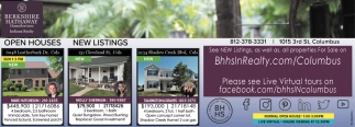 Open Houses And New Listings