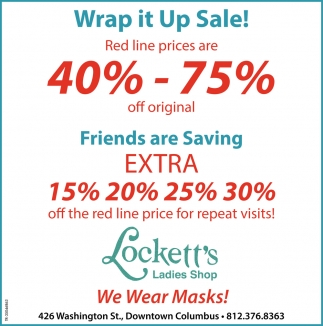 Wrap It Up Sale!