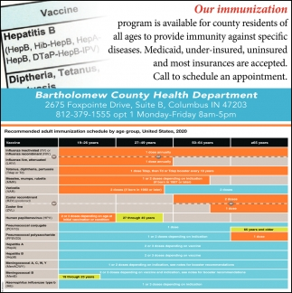Our Immunization Program Is Available For County Residents