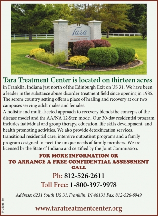 Tara Treatment Center Is Located On Thirteen Acres