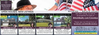 Open Houses New Listings