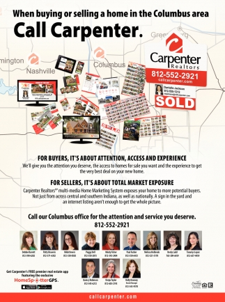 When Buying Or Selling Home2019 In The Columbus Area Call Carpenter.