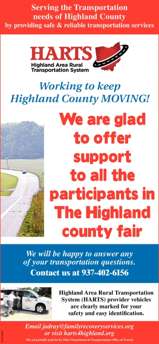 We are glad to offer support to all the participants in the Highland County Fair