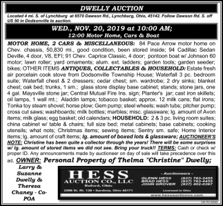 Dwelly Auction - Nov 20