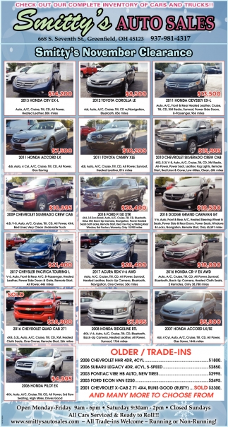Check out our complete inventory of cars and trucks!