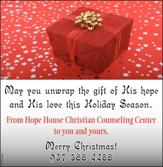 May you unwrap the gift of his hope and his love this Holiday Season