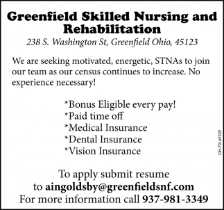 We are seeking State Tested Nurse Aides