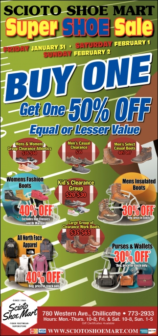 Buy One - Get One 50% Off Equal or Lesser Value