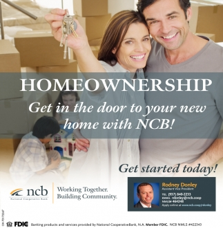 Homeownership - Get in the door to your new home with NCB!