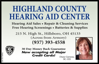 Hearing Aid Sales ~ Repair & Cleaning Services