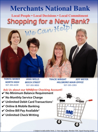 Shopping for a New Bank? We Can Help!