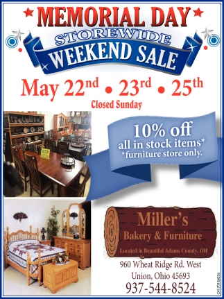 Memorial Day Storewide Weekend Sale