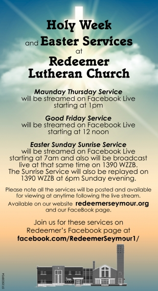 Holy Week And Easter Services