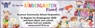 It's Time For Kindergarten Round-Up!