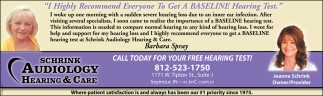 Call Today For Your Free Hearing Test!