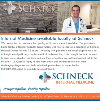 Internal Medicine Available Locally At Schneck