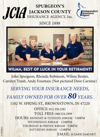 Serving Your Insurance Needs, Family Owned For Over 80 Years