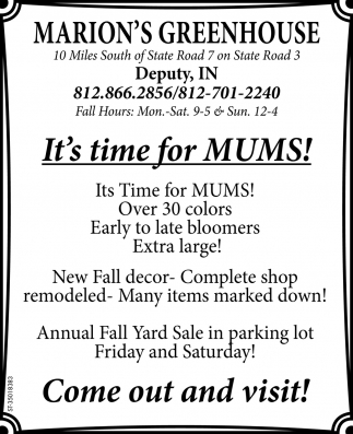 It's Time For Mums!