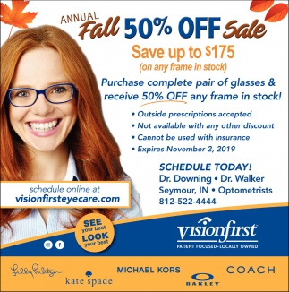 Annual Fall 50% Off Sale