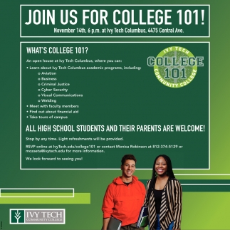 Join Us For College 101!