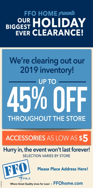 We're Clearing Out Our 2019 Inventory!