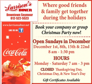 Open Sundays In December