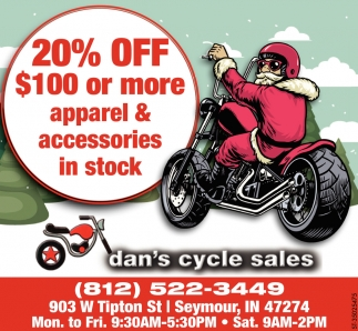20% Off $100 Or More Apparel & Accesories In Stock