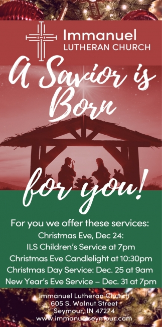 A Savior Is Born For You!