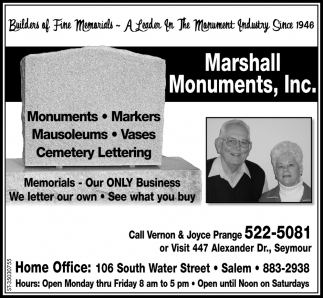 Monuments - Markers - Mausoleums - Vases