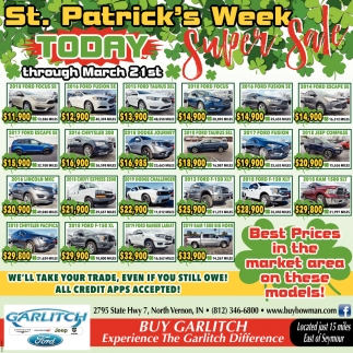 St. Patrick's Week Today Super Sale