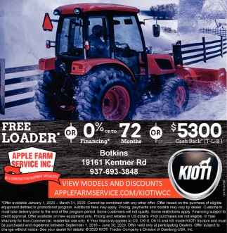 Free Loader* or 0% Financing* up to 72 months or $5300