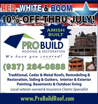 10% Off Thru July