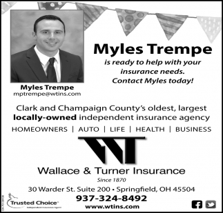 Myles Trempe is ready to help with your insurance needs