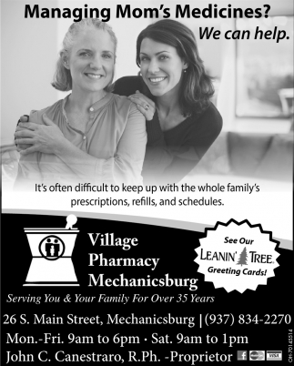 Managing Mom's Medicines? We can help