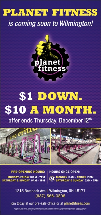Is Coming Soon To Wilmington Planet Fitness