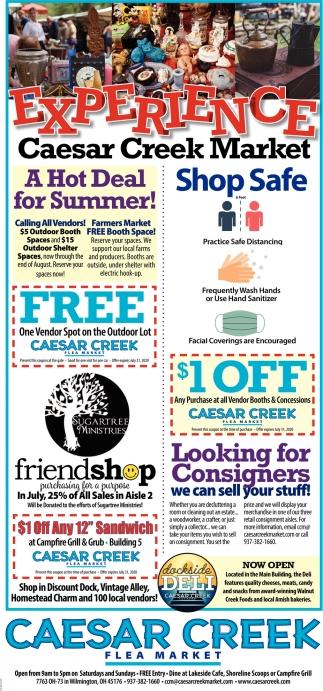 Shop Safe Caesar Creek Flea Market Wilmington Oh
