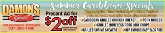 Summers Caribbean Specials
