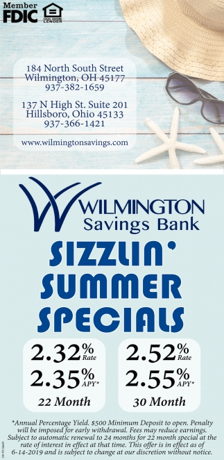 Sizzlin Summer Specials