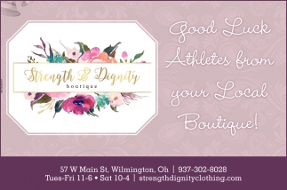 Good Luck Athletes from your Local Boutique!