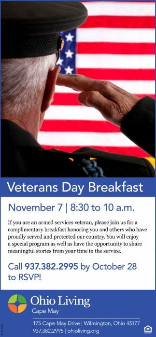 Veterans Day Brekafast  - November 7