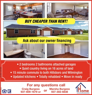 Buy Cheaper Than Rent!