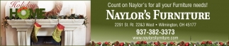 Count on Naylor's for all your Furniture needs!
