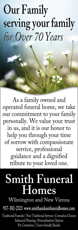Our Family serving your family for Over 70 Years