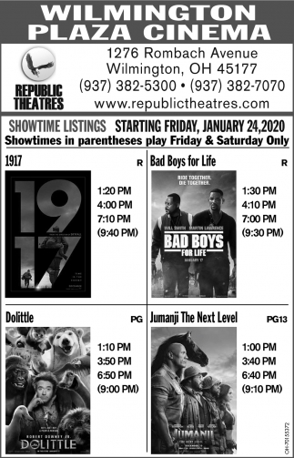 Showtime Listings - Starting January 24