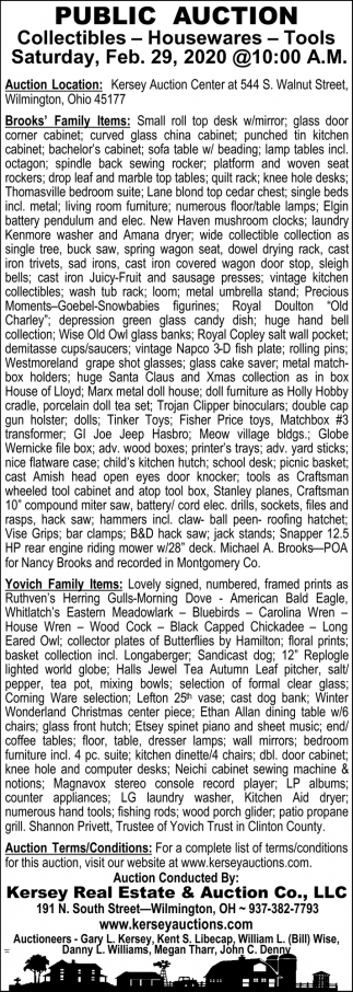 Public Auction - Feb. 29