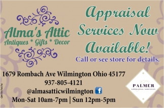 Appraisal Services - Now Available