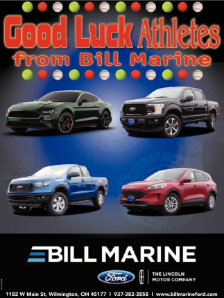 Good Luck Athletes from Bill Marine