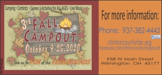 3rd Fall Campout